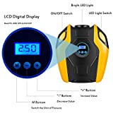 Breezz Air Compressor Pump, Digital Tire Inflator, Portable 12V DC Auto Air Pump Up to 150 PSIfor Car, Bicycle, Air Mattress and Other Inflatables