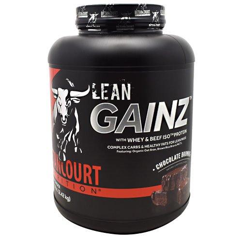 Betancourt Nutrition Lean Gainz Whey Protein, Chocolate Brownie, 5 Pounds