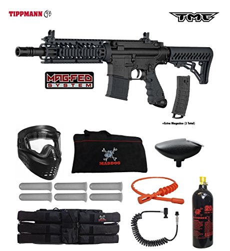 Tippmann TMC MAGFED Corporal Paintball Gun Package - Black/Black