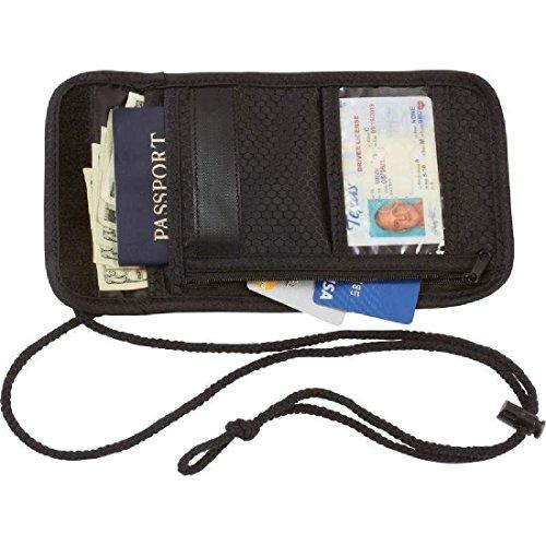 Secret Security Neck Strap Bag Hidden Passport Case Travel Wallet Money Holder by ZIZI SPORTS SUPPLY (Image #1)