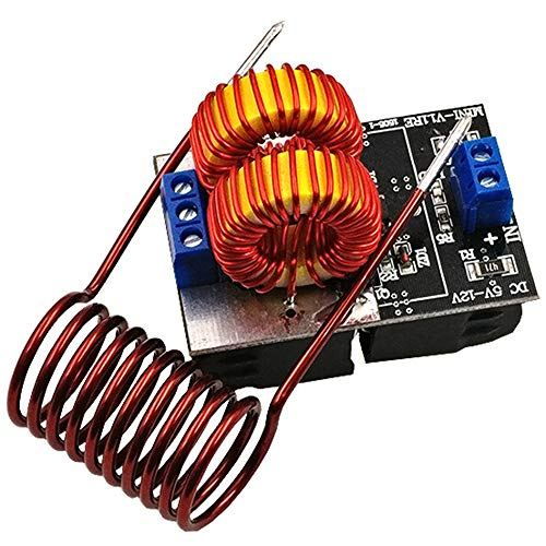 2pack Mini DC 5-15V 150W ZVS Induction Heating Board High Voltage Generator Heater with Coil for Tesla Jacobs Ladder Driver