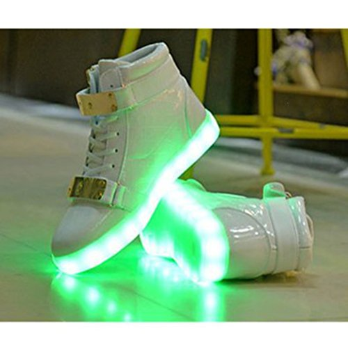 HI Carga toalla adultos e LED Luz Blanco zapatos Color otoño LI Presente zapatos de corriente invierno de JUNGLEST luminosa deportivos 7 USB zapatos pares pequeña casual nv8dWqOI