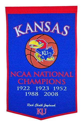 Ncaa National Championship Banner - NCAA Kansas Jayhawks Dynasty Banner