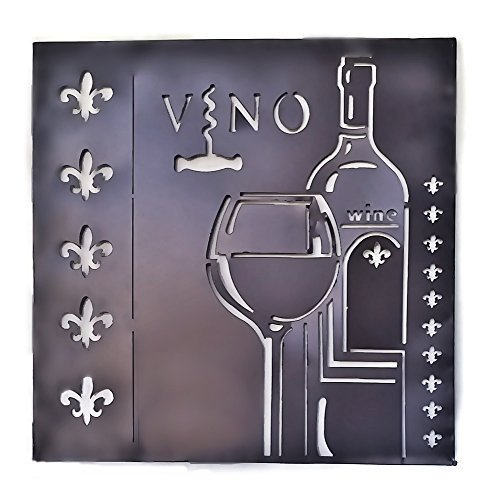 Metal Wall Sculptures Wine Vino Wall Art Fleur-de-lis