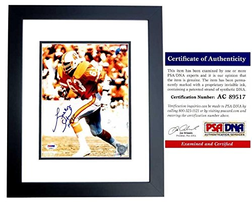 (Lee Roy Selmon Signed - Autographed Tampa Bay Buccaneers - Tampa Bay Bucs Bucs 8x10 inch Photo - Deceased 2011 - BLACK CUSTOM FRAME - Certificate of Authenticity (COA) - PSA/DNA Certified)