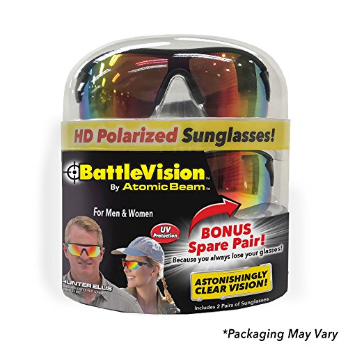 As Seen On TV Battle Vision HD Polarized Sunglasses by Atomic Beam, UV  Block Sunglasses Protect Eyes & Gives Your Vision Clarity