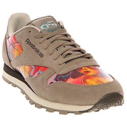 Reebok Mens Cl Lthr R12 Spets-up Mode Sneaker Miami