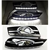 2PCS LED DRL Driving Fog Lamp Day Time Light Running Day Turn Signal Cover Kit Fit For Chevrolet Cruze 2009 2010 2011 2012 2013