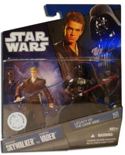 Star Wars 2010 Legacy of the Darkside Exclusive Action Figure 2Pack Anakin Skywalker Darth Vader