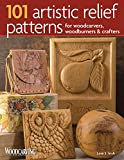 wood carving ideas 101 Artistic Relief Patterns for Woodcarvers, Woodburners & Crafters (Fox Chapel Publishing) Small Relief-Carving Designs, Easy-to-Follow Instructions & Detailed Photos (Woodcarving Illustrated Books)
