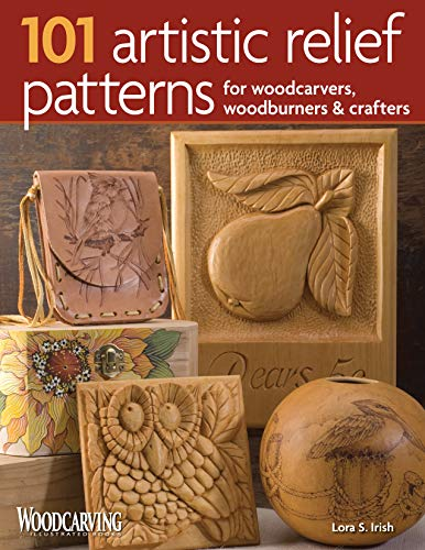101 Artistic Relief Patterns for Woodcarvers, Woodburners & Crafters (Fox Chapel Publishing) Small Relief-Carving Designs, Easy-to-Follow Instructions & Detailed Photos (Woodcarving Illustrated Books) - $19.95