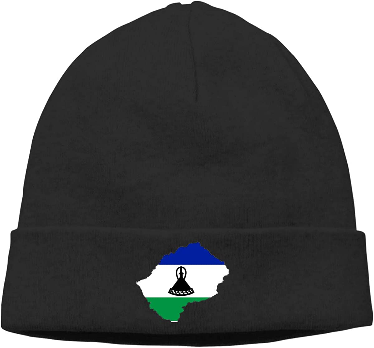 Nskngr Flag-Map/_of/_Lesotho Cap Unisex Cuffed Serious Style Beanie Hats Ski Slouchy Hat