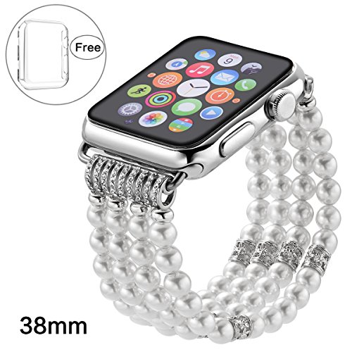 210032c19 Pintaik for Apple Watch Band 38mm 42mm, 2018 New Fashion Crystal Beaded  Elastic Bracelet Women Girl Bands and Case for Iwatch Series 3/2/1 Luxury  Bling ...