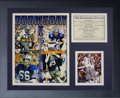 White Photo Plaque - Legends Never Die Dallas Cowboys Doomsday Machine Framed Photo Collage, 11x14-Inch