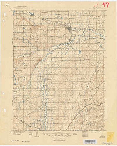 (YellowMaps Greeley CO topo map, 1:125000 Scale, 30 X 30 Minute, Historical, 1902, Updated 1949, 21.3 x 17.1 in -)