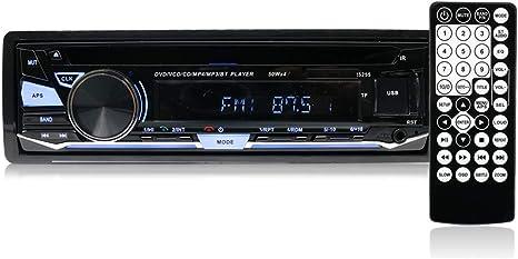 Auto Car Radio Bluetooth Stereo Head Unit MP3//USB//SD//AUX//FM 1 DIN Single Din