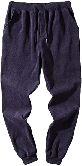Spirio Mens Active Elastic Waist Slim Fit Twill Jogger Harem Pants