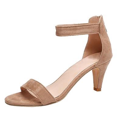 Darringls Navidad Zapatos de Invierno Mujer,Zapatillas Punta Abierta Sandalias Zapatos de tacón Alto Moda Tacos: 6.5cm: Amazon.es: Ropa y accesorios