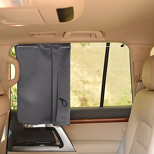 Thermal Insulated /& Energy Saving Window Blackout Curtains Protect Privacy Suits for Most of Side Windows PONY DANCE Vehicle Sunshades Screen One Pair Grey 27.5 W x 20.5 L