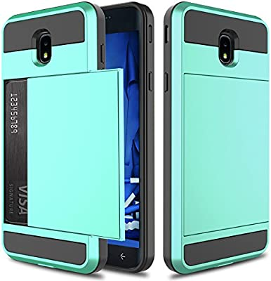 fb825a88ceb Galaxy J7 2018 Case, J7 Star Case, J7 Crown Case, Elegant Choise Hybrid  Dual Layer Shockproof Wallet Case with Credit Card Slots Holder Protective  ...