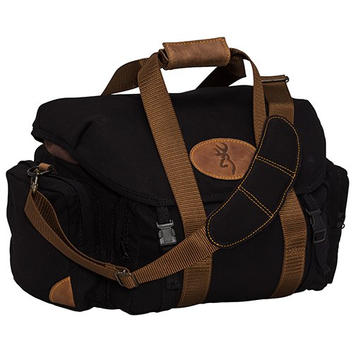 Browning, Lona, Canvas/Leather Range Bag, Black/Brown