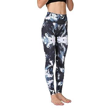LQRR Pantalones de Yoga Impresos Mujeres Cintura Alta ...