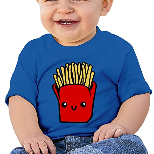 Fry Costume Jacket (French Fries 6 - 24 Months Baby T-shirts Round Neck Shirt 18 Months)