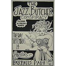 Jazz Butcher Conspiracy Max Eider Rare Original Portland Concert Tour Gig Poster