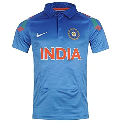 Nike India Cricket Team Official ODI Uniform Indian Jersey Shirt Top Size  S-xl (