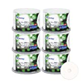 Smartbuy 300 Pack Bd-r 25gb 6x Blu-ray Single Layer Recordable Disc Printable White Inkjet Blank Data Video Media 300 Disc Spindle