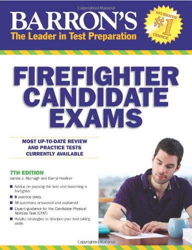 Barron's Firefighter Candidate Exams, 7th Edition (Barron's Firefighter Exams) (Book Of Civil Service Study Guide compare prices)