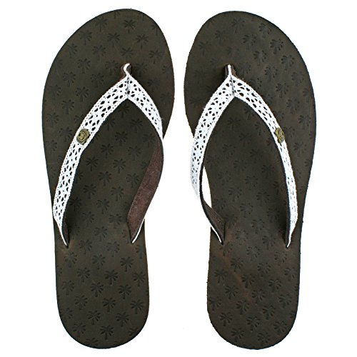 Iona Iona Leather Flip Flops Urban Leather Tongs Beach Femme Flops Flip Marron 71TxwZ