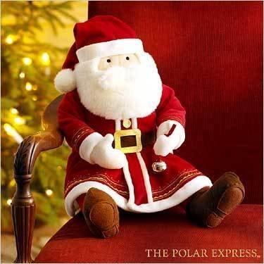 Amazon Com The Polar Express Talking Santa Claus 18 Plush Toys Games