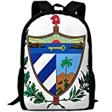 ZQBAAD Coat Of Arms Of Cuba Luxury Print Men And Women's Travel Knapsack