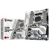 MSI Arsenal Gaming Intel X299 LGA 2066 DDR4 USB 3.1 SLI ATX Motherboard (X299 TOMAHAWK ARCTIC)
