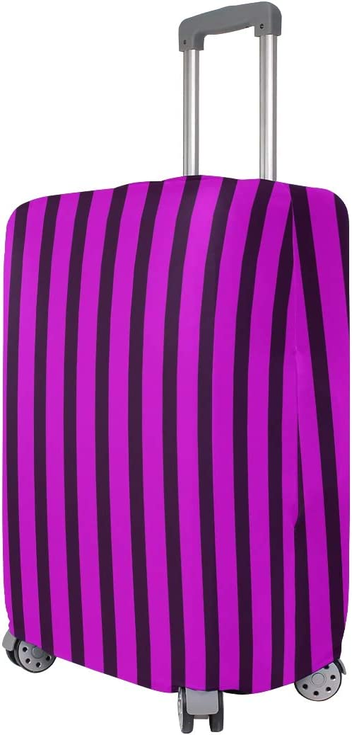 Baggage Covers Rose Black Color Stripes Washable Protective Case