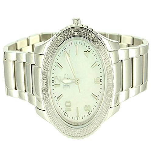 Mens KC Techno Com Rodeo Diamond Master Classy White Finish Diamond Watch