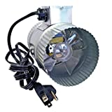 Suncourt Inc. DB204-CRD 4 Inch In-Line Duct Fan with Cord