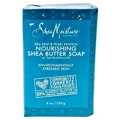 (Shea Moisture Sea Kelp & Pearl Protein Nourishing Butter Soap Bar for Unisex, 8 Ounce )