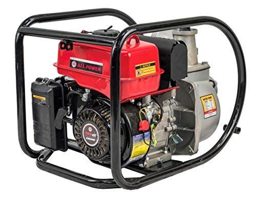 - All Power America 3 inch Gas Powered Semi Trash Water Pump, 250 Gallon Per Minute, WP300