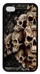 iPhone 4s Cases, iPhone 4s Case - Skulls Designed TPU Silicone Case Cover for iPhone 4 and iPhone 4s - Black
