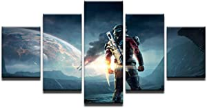 sjkkad Canvas Game Poster Mass Effect Andromeda Home Decor Painting Canvas Printed Pictures Artwork 40X60 40X80 40X100Cm-No Frame