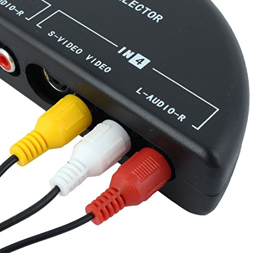 Mosuch 4Way Audio Video AV RCA Switch Game Selector Box Splitter