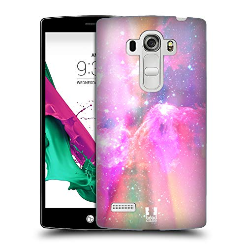 Head Case Designs Pink and Magenta Pastel Galaxy Hard Back Case Compatible for LG G4 Beat / G4s / G4 s / H735