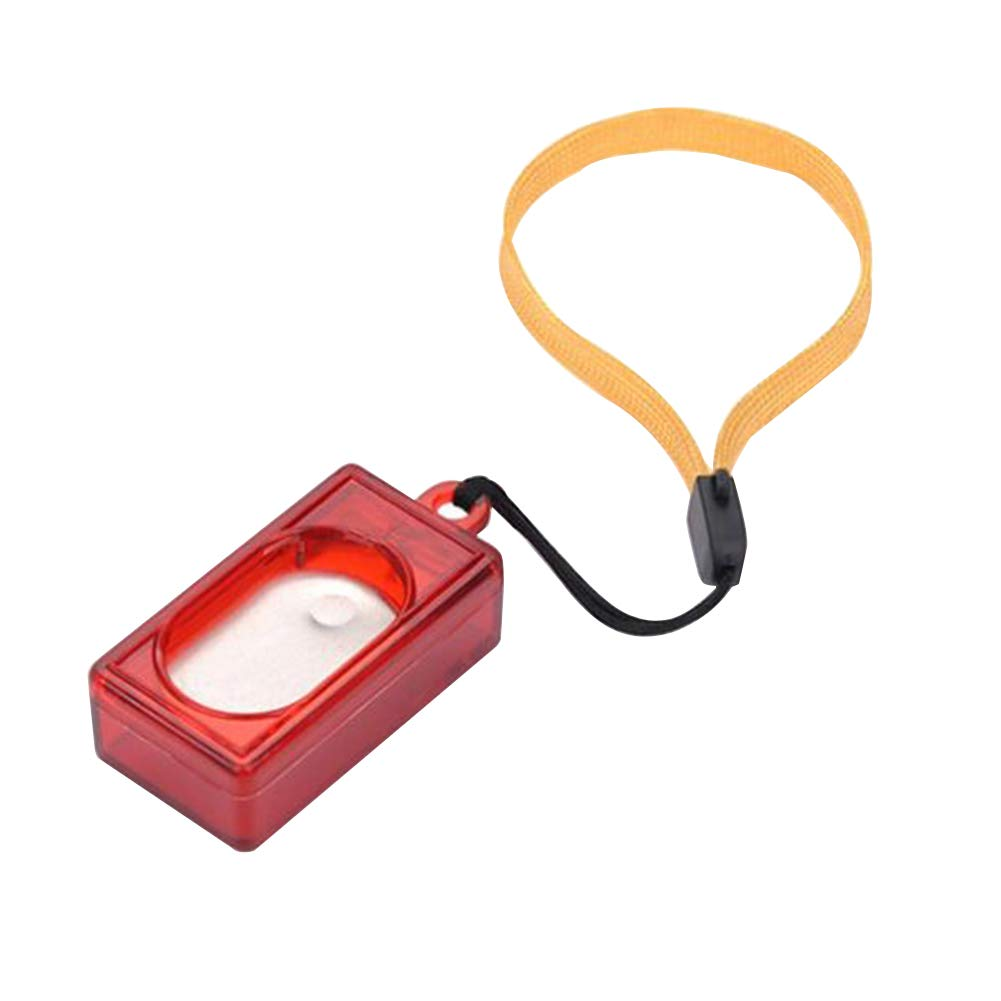 wanshenGyi Pet Training Clicker, Classic, Stylish, Hot, Practical, Pet Supplies Square Dog Training Ring Obedience Clicker Trainer with Wrist Strap - Red Home, Work, Travel Outside