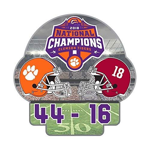 - Clemson Tigers 2019 BCS National Champions Pin w/Final Score