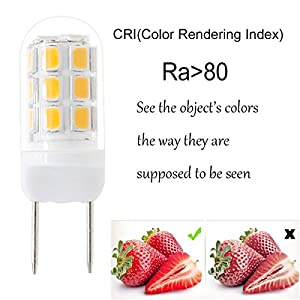 All New LED G8 Light Bulb, G8 GY8.6 Bi-pin Base LED, Dimmable 120V 35W Halogen Replacement Bulb for Under Counter Kitchen Lighting, Under-cabinet Light, Puck light (5-pack) (Warm White, 3W)