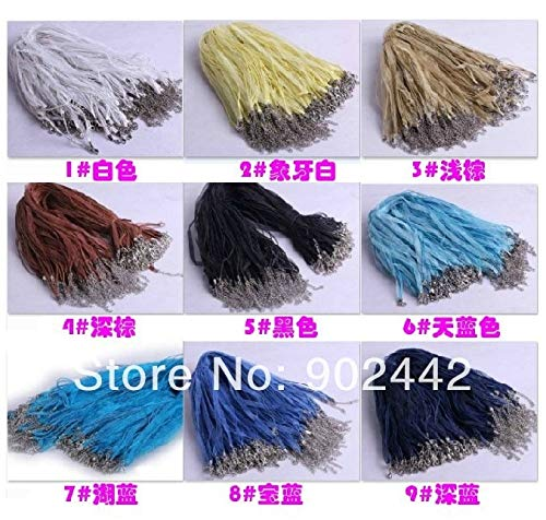 FINCOS Hot Sale & :Wholesale Silk Necklace Cord for Handmade Necklace Jewelry,1000 pcs/lot, 21 Colors for Choice by FINCOS (Image #2)