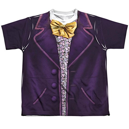 Trevco Youth: Willy Wonka and The Chocolate Factory- Wonka Costume Tee Kids T-Shirt Size (Chocolate Costume For Kids)
