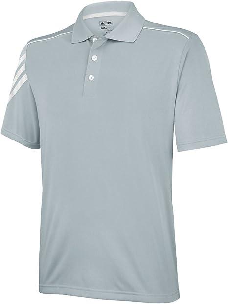 adidas 3-Stripes Climacool Golf Polo Camiseta de, Color Gris ...